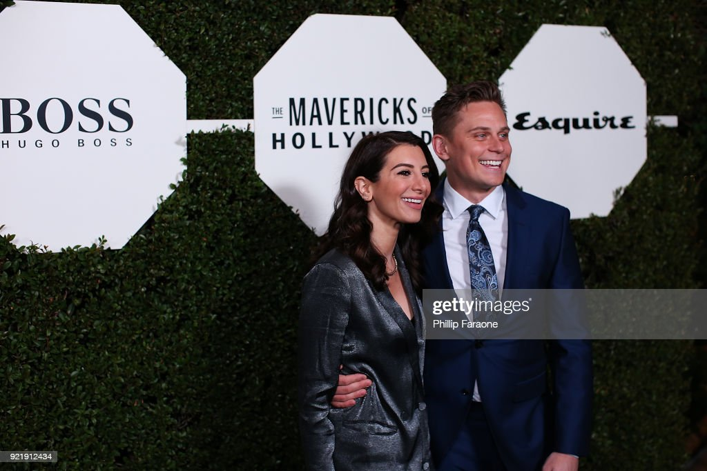 Nasim Pedrad and Billy Magnussen attend Esquire's Annual Maverick's of Hollywood at Sunset Tower on February 20, 2018 in Los Angeles, California.