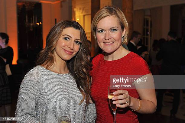 Nasim Pedrad and Caroline Hurndall attend Capitol File's WHCD Weekend Welcome Reception with Cecily Strong at The British Embassy on April 24, 2015...