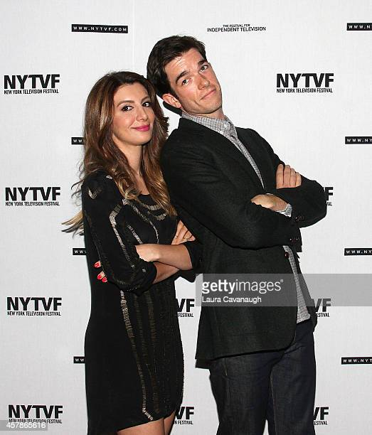 Nasim Pedrad and John Mulaney attend Mulaney On Mulaney Or How I Learned To Stop Worrying And Love The ThreeCamera Sitcom at the 2014 New York...