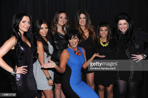 Nasim Pedrad Kim Kardashian Abby Elliott Khloe Kardashian Odom Kourtney Kardashian Vanessa Bayer and Kris Jenner of Saturday Night Live and Keeping...