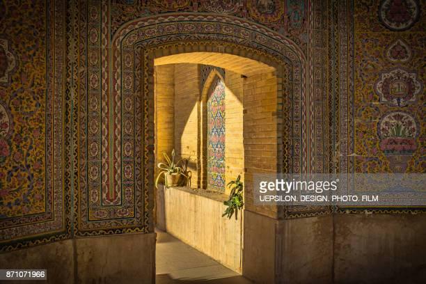nasir al-mulk mosque (pink mosque) in shiraz, iran - shiraz stock photos and pictures