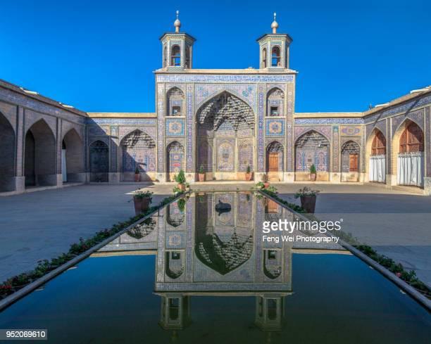 nasir al-mulk mosque, shiraz, fars province, iran - shiraz stock photos and pictures