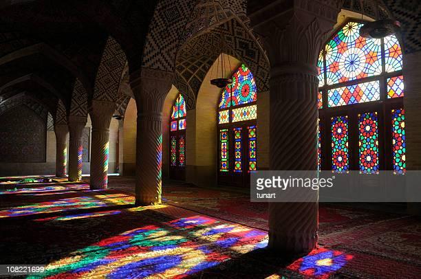 nasir al-mulk mosque, shiraz, iran - mosque stock pictures, royalty-free photos & images