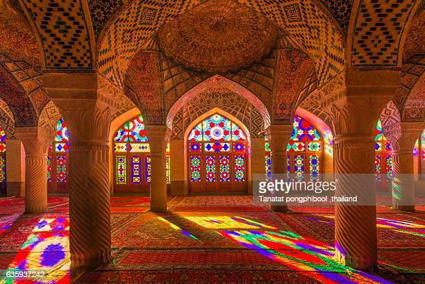 nasir al-mulk mosque, shiraz, iran - unesco stock pictures, royalty-free photos & images