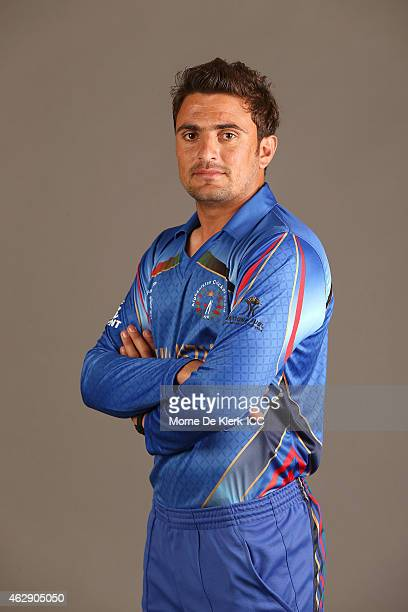 Nasir Jamal poses during the Afghanistan 2015 ICC Cricket World Cup Headshots Session at the Intercontinental on February 7 2015 in Adelaide Australia