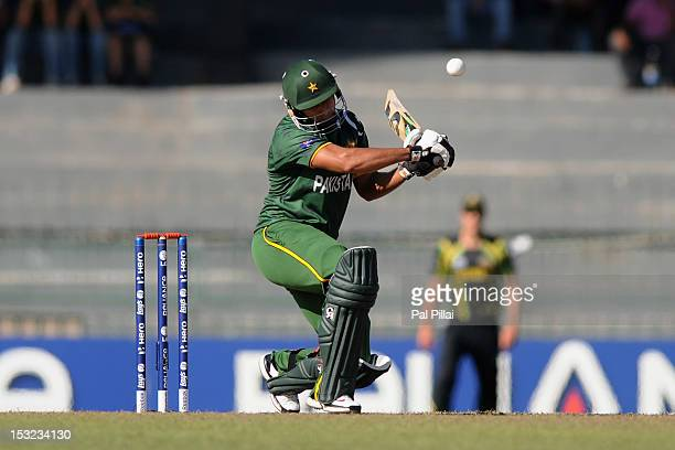 Nasir Jamshed of Pakistan in action during the ICC World Twenty20 2012 Super Eights Group 2 match between Australia and Pakistan at R Premadasa...