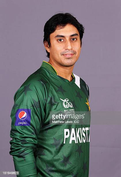 Nasir Jamshed of Pakistan pictured during a Pakistan Portrait Session ahead of the ICC T20 World Cup at the Cinnamon Grand Hotel on September 13 2012...