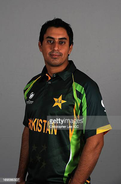 Nasir Jamshed of Pakistan poses during a Pakistan Portrait Session at the Hyatt Hotel on May 28 2013 in Birmingham England