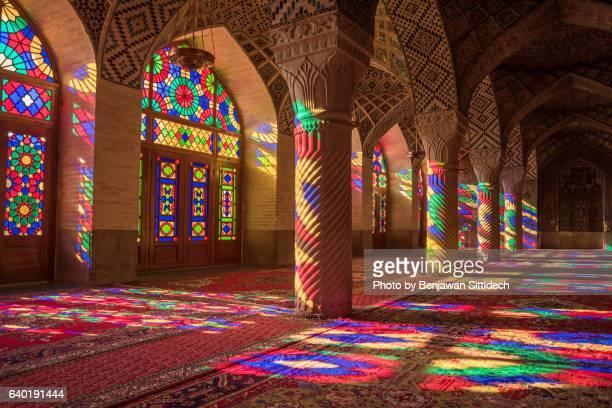 nasir ol molk mosque in shiraz, iran - shiraz stock photos and pictures