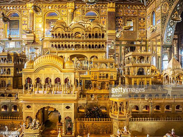 nasiyan jain temple ajmer rajasthan india - jain temple stock photos and pictures