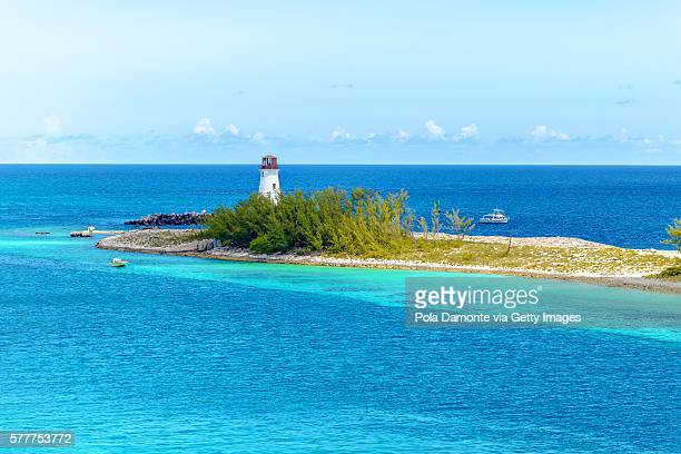 Nassau lighthouse at The Bahamas in the caribbean.