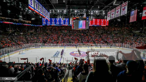 Nassau Veterans Memorial Coliseum was electric from the national anthem to the end of the game during Game 1 of the First Round of the Stanley Cup...