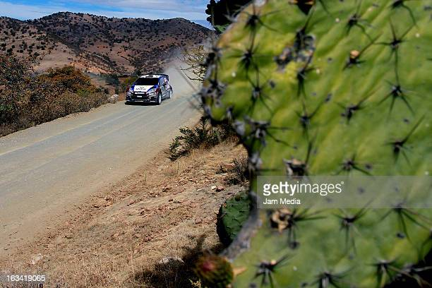 Nasser Al Attiyah and Giovanni Bernacchini of Quatar during the WRC Rally Championship Mexico on March 09 2013 in Leon Mexico