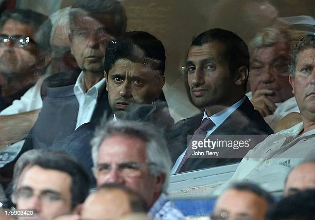 Nasser Al Khelaifi president of PSG attends the opening french Ligue 1 match between Montpellier Herault SC and Paris SaintGermain FC at the Stade de...