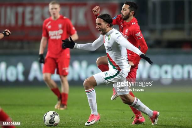 Nasser El Khayati of ADO Den Haag Cristian Cuevas of FC Twente during the Dutch Eredivisie match between Fc Twente v ADO Den Haag at the De Grolsch...