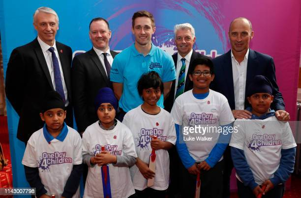 Nasser Hussain former England Cricket Captain and Sky Sports Commentator Chris Woakes England Cricketer David Richardson CEO ICC Chief Executive...
