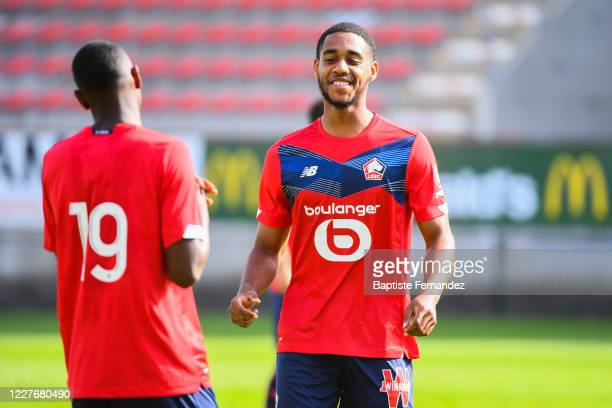 Nassim Innocenti of Lille during the Friendly match between Lyon and Mouscron on July 18 2020 in Mouscron Belgium