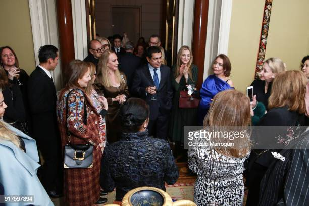 Nassir Abdulaziz AlNasser and Muna Rihani AlNasser during the Susan Gutfreund Hosts UN Women For Peace Association Reception on February 12 2018 in...