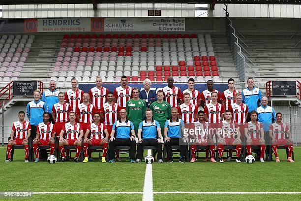 Nassir El Aissati, Jorzolino Falkenstein, Joep van den Ouweland, Justin Mathieu, assistant trainer Klaas Wels , coach François Gesthuizen ,...