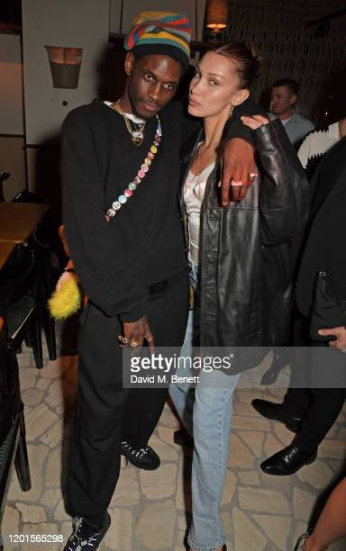 Nast and Bella Hadid attend the LOVE Magazine LFW Party celebrating issue 23 at The Standard London on February 17 2020 in London England LOVE...