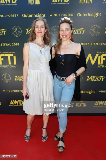 Nasta Morgan and Anna Parrow attend as WIFT International with Variety Alliance of Women Directors host a cocktail party during the 71st Cannes Film...