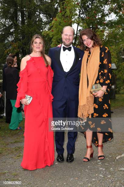 Nastassia Bach Prince Philipp zu OettingenWallerstein and Carlotta CramerKlett during the wedding of Prince Konstantin of Bavaria and Princess Deniz...