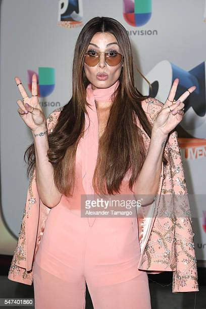 Nastassja Bolívar attends the Univision's 13th Edition Of Premios Juventud Youth Awards at Bank United Center on July 14 2016 in Miami Florida