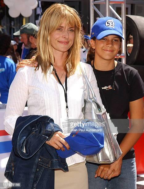 Nastassja Kinski and daughter Kenia Jones during Herbie Fully Loaded Los Angeles Premiere Arrivals at El Capitan Theater in Hollywood California...