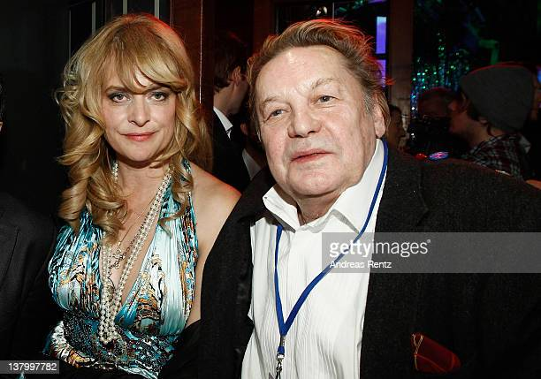 Nastassja Kinski and Helmut Berger attend the 'Lambertz Monday Night' at Alter Wartesaal on January 30 2012 in Cologne Germany