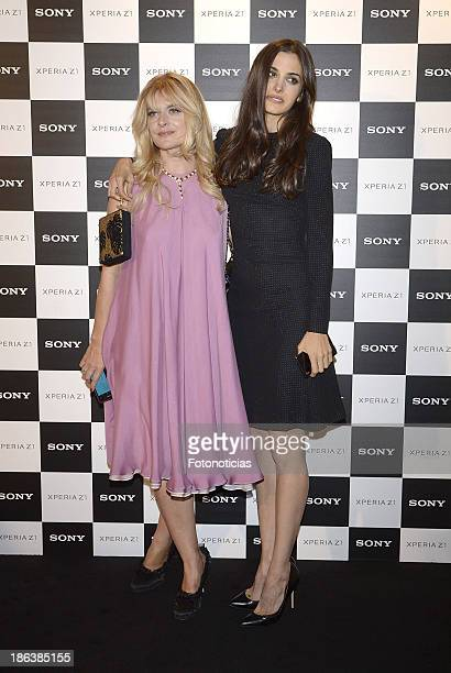 Nastassja Kinski and her daughter Sonia Kinski attend Sony Xperia Z1 photography exhibition at the Real Jardin Botanico on October 30 2013 in Madrid...