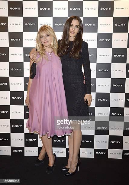 Nastassja Kinski and her daughter Sonia Kinski attend Sony Xperia Z1 photography exhibition at the Real Jardin Botanico on October 30 2013 in Madrid...