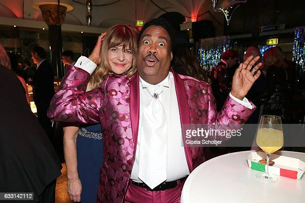 Nastassja Kinski and Keith Tynes singer of'The Platters' 'Only you' during the Lambertz Monday Night 2017 at Alter Wartesaal on January 30 2017 in...