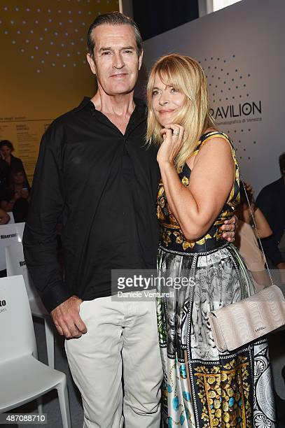 Nastassja Kinski and Rupert Everett attend a photocall for Kineo Award during the 72nd Venice Film Festival at Palazzo del Casino on September 6 2015...