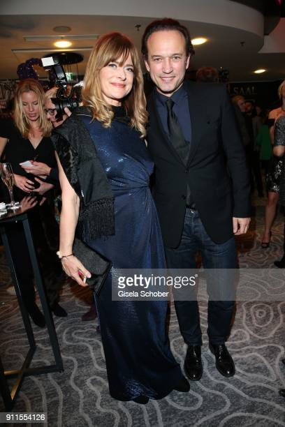 Nastassja Kinski and Vincent Perez during the Lambertz Monday Night pre dinner at Hotel Marriott on January 28 2018 in Cologne Germany