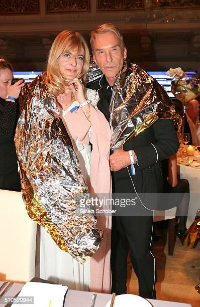 Nastassja Kinski and Wolfgang Joop during the Cinema For Peace Gala 2016 during the 66th Berlinale International Film Festival on February 15 2016 in...