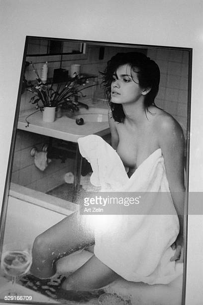 Nastassja Kinski in a hotel bath The photo was sold to the London Express circa 1970 New York