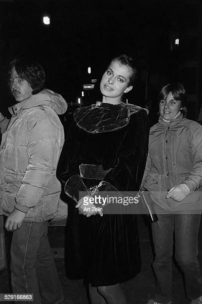 Nastassja Kinski wearing a velvet outfit circa 1970 New York