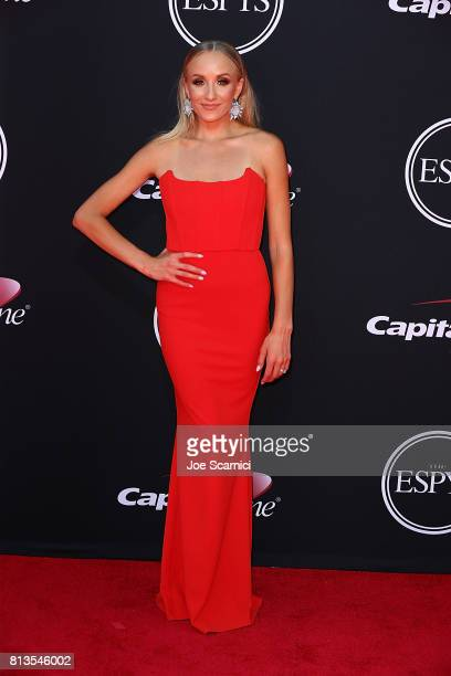 Nastia Liuken arrives at the 2017 ESPYS at Microsoft Theater on July 12 2017 in Los Angeles California