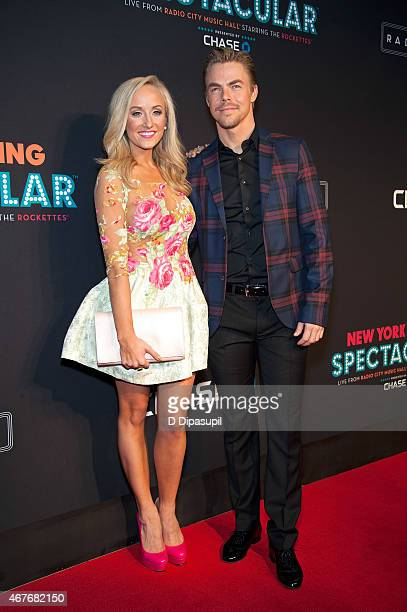 Nastia Liukin and Derek Hough attend the 2015 New York Spring Spectacular Opening Night at Radio City Music Hall on March 26 2015 in New York City