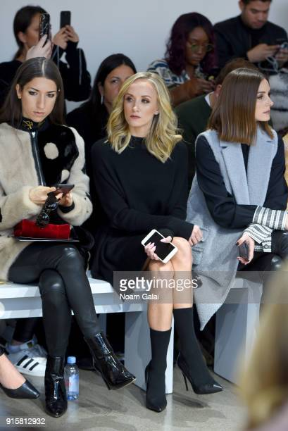Nastia Liukin and Olivia Palermo attend the front row for Noon by Noor during New York Fashion Week The Shows at Gallery II at Spring Studios on...
