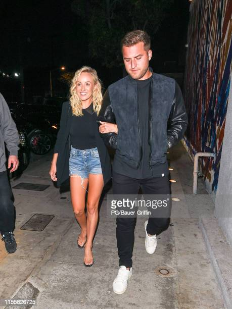 Nastia Liukin and Sam Martin are seen on July 15 2019 in Los Angeles California
