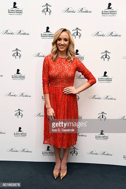 Nastia Liukin attends Brooks Brothers holiday celebration with St Jude Children's Research Hospital Brooks Brothers Madison Avenue Flagship on...