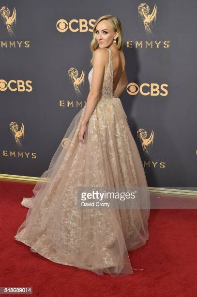 Nastia Liukin attends the 69th Annual Primetime Emmy Awards at Microsoft Theater on September 17 2017 in Los Angeles California