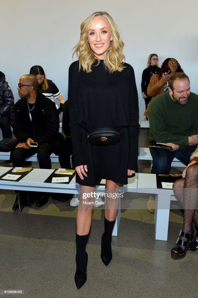 Nastia Liukin attends the front row for Noon by Noor during New York Fashion Week: The Shows at Gallery II at Spring Studios on February 8, 2018 in New York City.