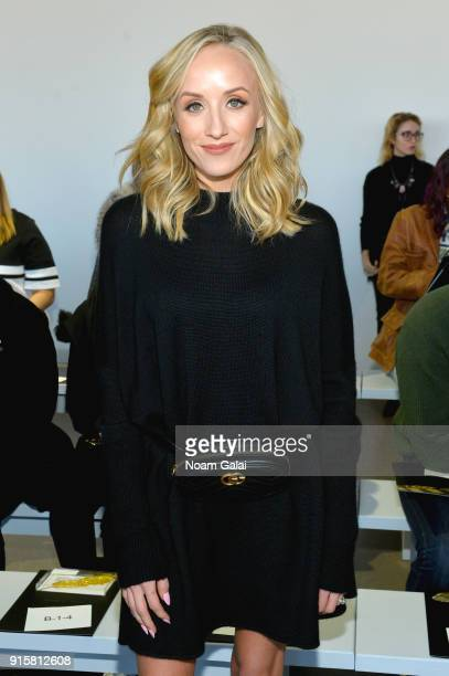 Nastia Liukin attends the front row for Noon by Noor during New York Fashion Week The Shows at Gallery II at Spring Studios on February 8 2018 in New...