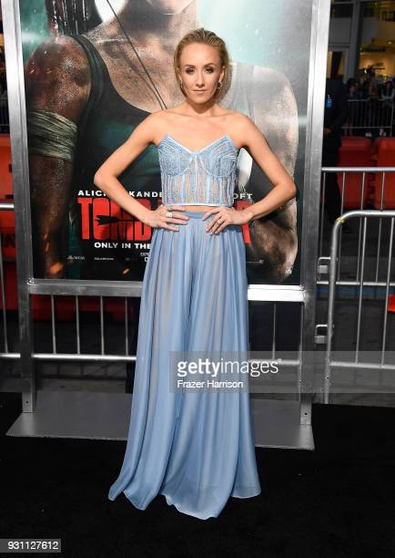 Nastia Liukin attends the premiere of Warner Bros Pictures' Tomb Raider at TCL Chinese Theatre on March 12 2018 in Hollywood California