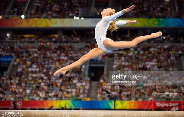 Nastia Liukin of the United States performs her silvermedal winning routine on the balance beam in individual apparatus finals on Tuesday August 19...