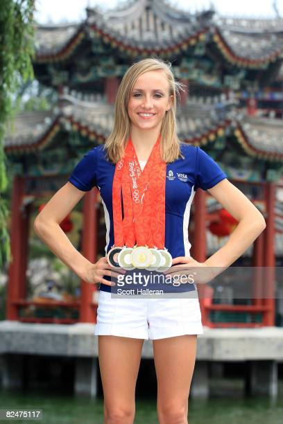 Nastia Liukin of the United States winner of one gold medal three silver medals and one bronze medal in artistic gymnastics at the Beijing 2008...