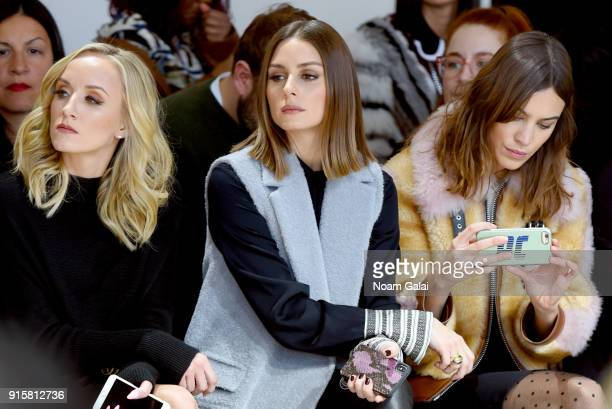Nastia Liukin Olivia Palermo and Alexa Chung attend the front row for Noon by Noor during New York Fashion Week The Shows at Gallery II at Spring...