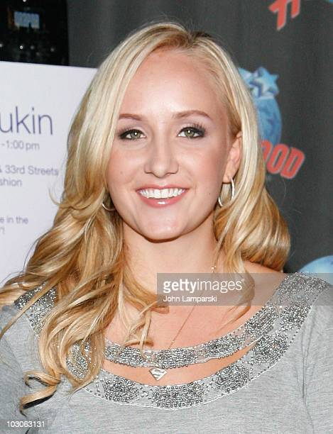 Nastia Liukin promotes Supergirl by Nastia at Planet Hollywood Times Square on July 23, 2010 in New York City.